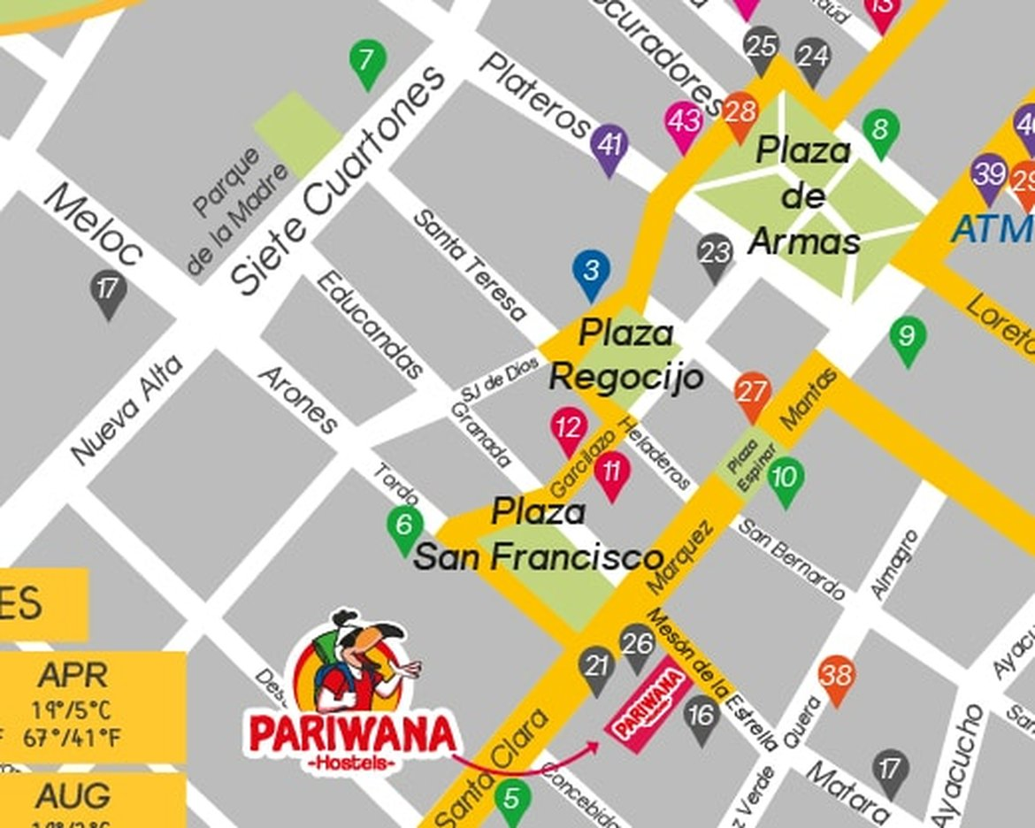 Pariwana free maps look for the main attractions of the city and the sacred valley of the incas we give you tips to explore the city and places to go publicscrutiny Image collections